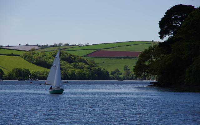 Sailing on the River Dart, near Dittisham, Devon