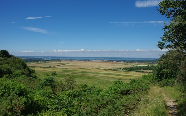 View north from Brook Down, Hamstead Trail, Isle of Wight